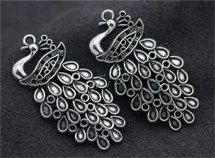 3pcs Tibetan Silver Exquisite Peacock Jewelry