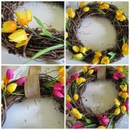 8th Street Bridge Diy Tulip Wreath Welcome Spring