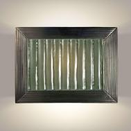A19 Ripple Wall Sconce Gunmetal Seaweed Gu24 Base