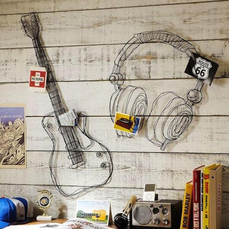 Aliexpress Buy Metal Wire Wall Decor Art Music