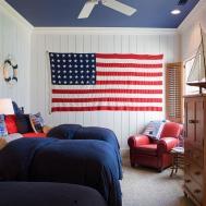 All American Red White Blue Decor