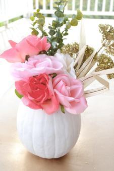 All Things Pink Pretty Diy Floral Pumpkin Centerpiece