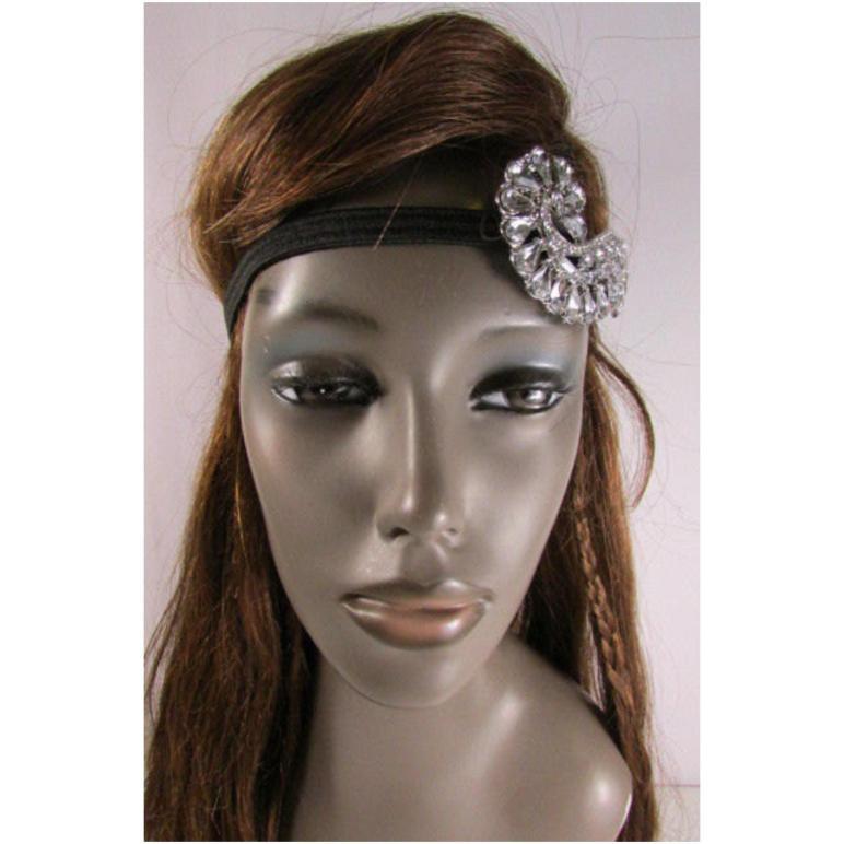 Alwaystyle4you Trendy Rhinestone Silver Fashion Metal Side