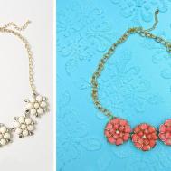 Anthropologie Inspired Floral Diy Necklace