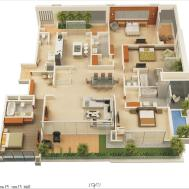 Apartment Bedroom Apartments Bath Layout Two Rent