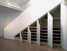 Apartment Storage Solutions Under Stairs