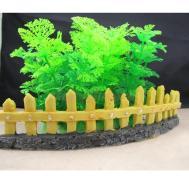 Aquarium Fish Tank Garden Resin Fence Stump Ornament Decor