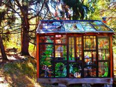 Artist Builds Incredible Stained Glass Cabin Middle