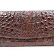 Artseye Women Embossed Genuine Leather Trifold Wallet