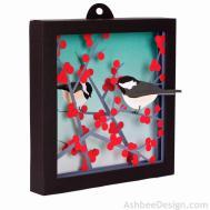 Ashbee Design Winterberries Chickadees Diy Shadow Box