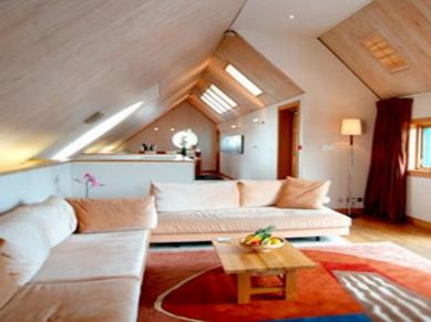 Attic Decorating Ideas Bright Modern Loft Room