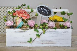 Attic Lace Diy Mother Day Gift Flower Basket