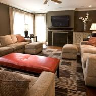 Awesome Living Room Orange Accents Additional