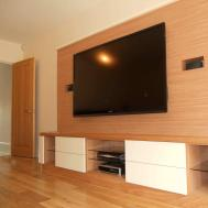 Awesome Media Room Designs Wall Mount Lcd Hang Oak