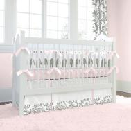 Baby Nursery Girl Bedroom Pink Black Crib