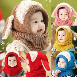 Baby Toddler Girls Boys Warm Hat Winter Beanie Hooded
