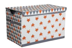 Bacati Playful Fox Toy Storage Chest