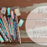 Back School Diy Washi Tape Stationary