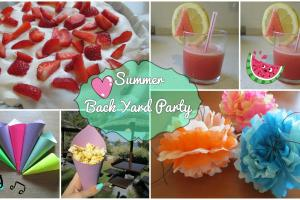Backyard Party Summer Edition Diy Treats Decorations