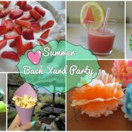 Backyard Party Summer Edition Diy Treats Decorations