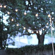 Backyard String Lights All Garden House Beach