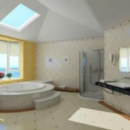 Bathroom Interior Design Skylight