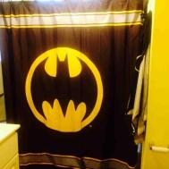 Batman Bathroom Decor Canvas