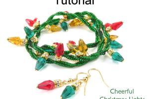 Beaded Christmas Lights Jewelry Making Holiday Bracelet