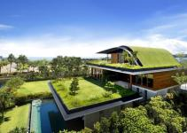 Beautiful Houses Green Roof Garden Home Singapore