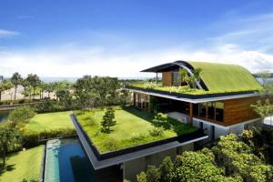 Beautiful Houses Green Roof Garden Home Singapore