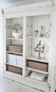 Beautiful White Shabby Chic Living Room Decoration Ideas