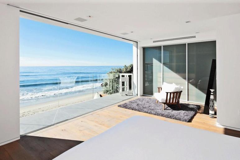 Bedroom Balcony Ocean Views Oceanfront Home Malibu