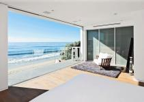 Bedroom Balcony Ocean Views Oceanfront Home Malibu