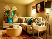 Bedroom Beige Orange Wall Colors