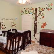 Bedroom Cool Brown Sleigh Crib Design Your
