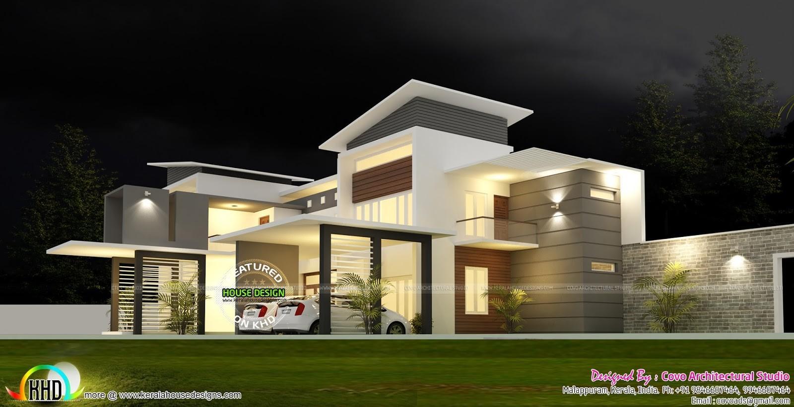 Bedroom Modern Contemporary House Kerala Home Design ...