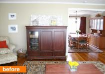 Before After Armoire Built Banquette