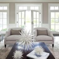 Beige Black Bedroom Modern Living Room Fireplace