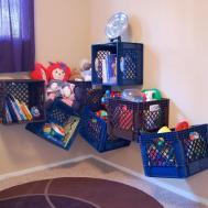 Being Frugal Sally Milk Crate Toy Storage