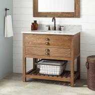 Benoist Reclaimed Wood Vanity Undermount Sink