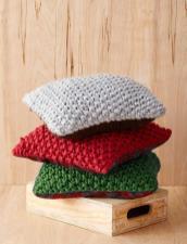 Bernat Perfect Christmas Pillows Knit Pattern