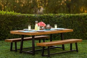 Best Choice Products Piece Acacia Wood Picnic Style
