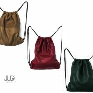 Black Leather Backpack Multi Way Sack Bag Sale