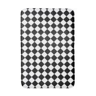 Black White Checkered Foam Bath Mat Zazzle