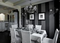 Black White Dining Room Home Design Furniture