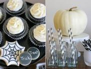 Black White Halloween Dessert Table Glorious Treats