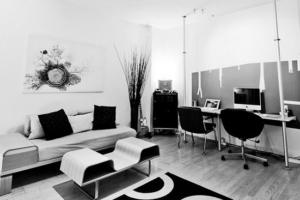 Black White Home Office Designs Iroonie