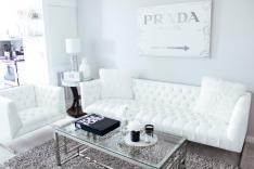 Black White Living Room Blondie City