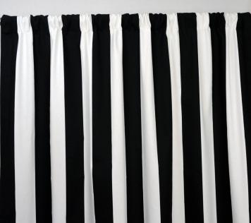 Black White Striped Curtains Sweet