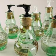 Blown Recycled Glass Bottle Art Tierra Este